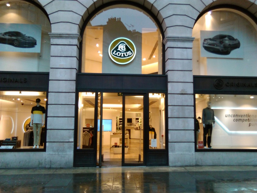 Lotus Originals Store in London's Piccadilly. Image: Driventowrite