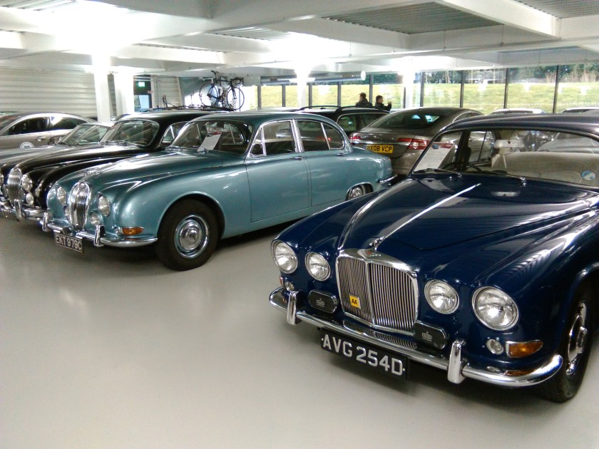 Jaguar S-Type (left) alongside its 420 brother. Image: Driven to Write