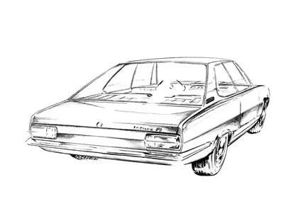 Styling sketch attributed to Marcello Gandini. Image: carstyling.ru