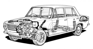 Fiat 124 Saloon - image : johnnywheels.com