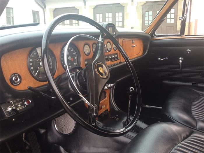 The 420 dashboard was Jaguar's first to feature crash padding. Image Classiccars.com