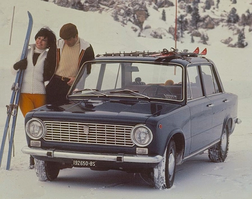 Fiat 124 Berlina - You call that snow. You should see what they have in Russia.