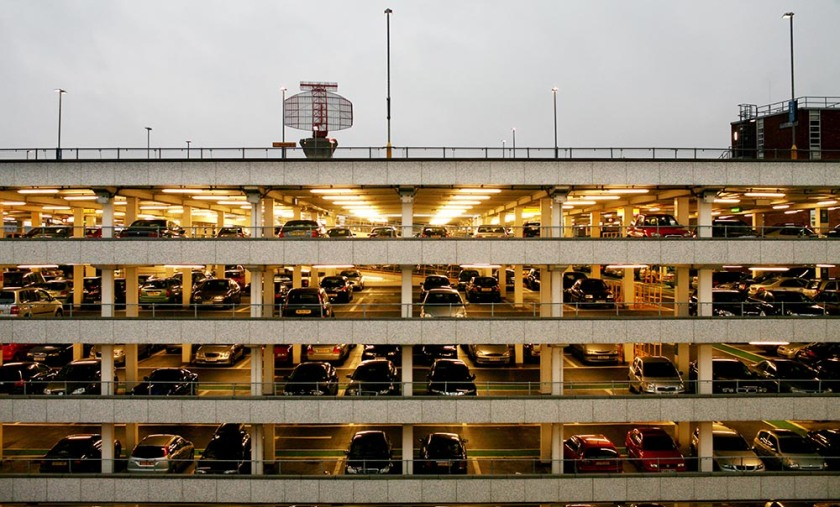 Part of a set of stock photographs of Heathrow Airport, London October 26th, 2007. Picture shows a short stay car park at Terminal Two & Three. Picture by Ben Gurr/The Times