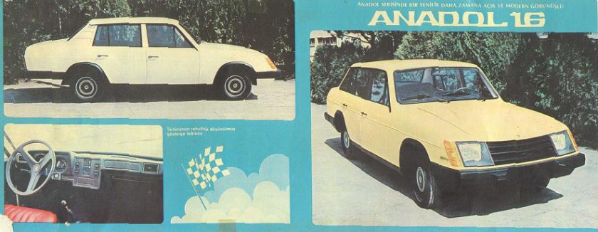 1981 Anadol 16 brochure: source