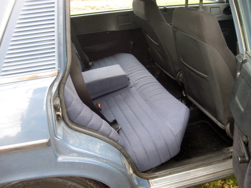 1981 Lancia Trevi: comfortable once you are seated.