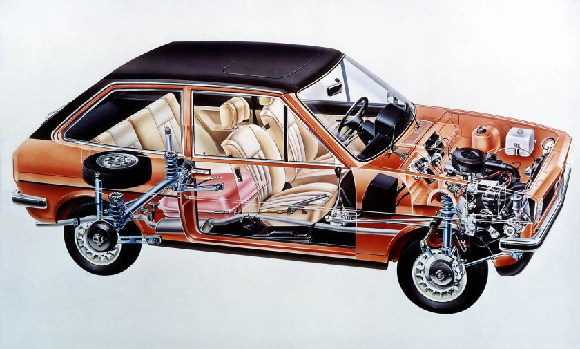 1976- The New Fiesta unveiled in Cutaway Form.