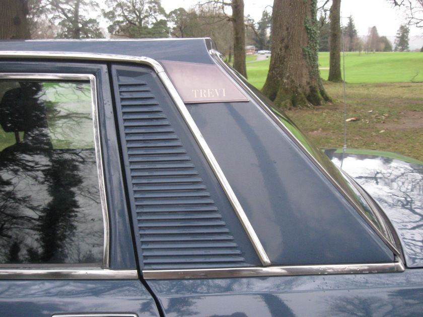 1981 Lancia Trevi: note the raised edge of the roof