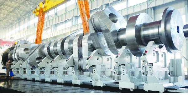 Marine Diesel Crankshaft - image : DHHI Group, China