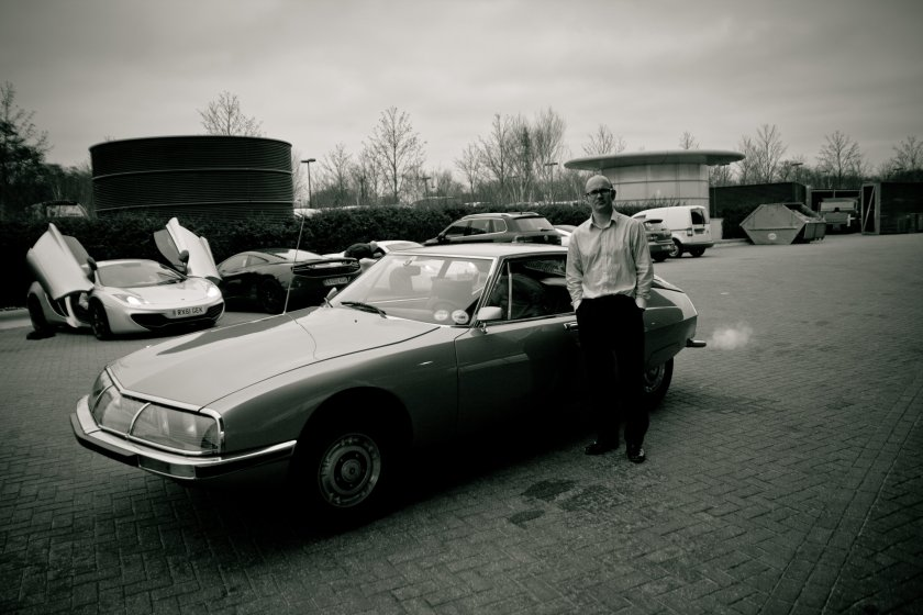 Steve Randle with his 1972 Citroen SM. Image: Steve Randle