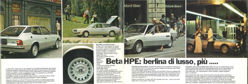 1975 Lancia HPE brochure