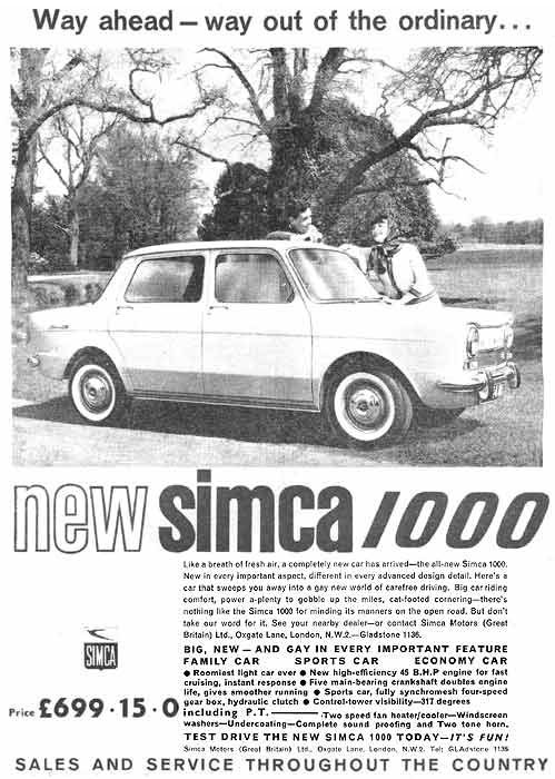1966 Simca 1000: source