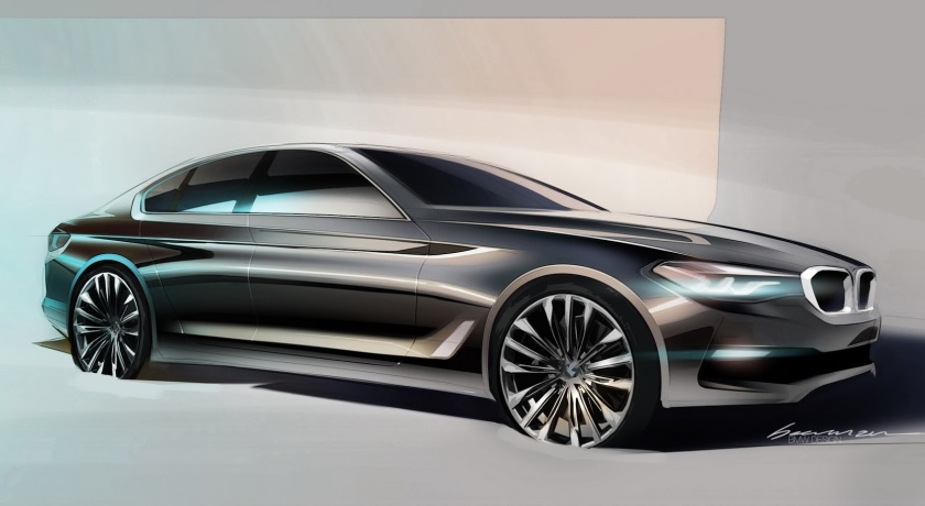 2017 BMW 5-series concept sketch: source