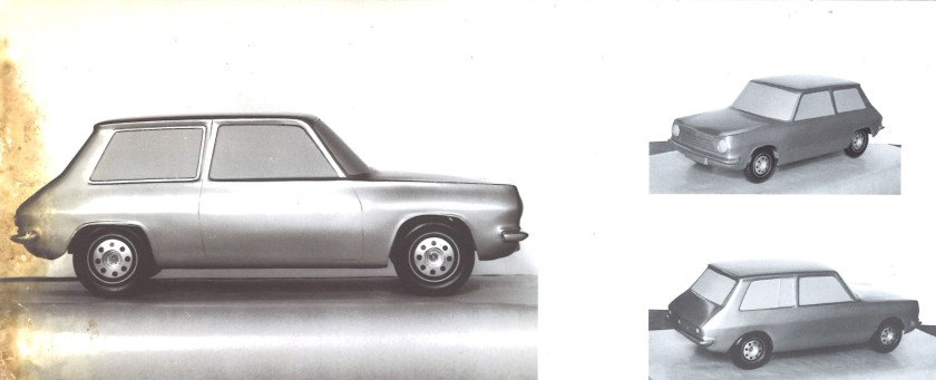 The 1100 starts taking shape - Early Robert Opron Simca Model