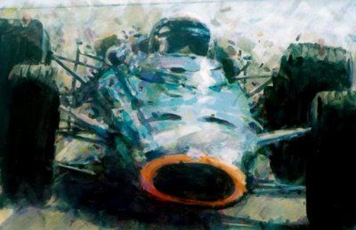 Jackie Stewart in BRM by Rob Ibjema