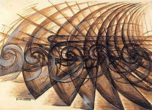 'Speed of a Motorcycle' by Giacomo Balla