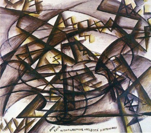 'Rhythm + Noise + Speed Of Car' by Giacomo Balla