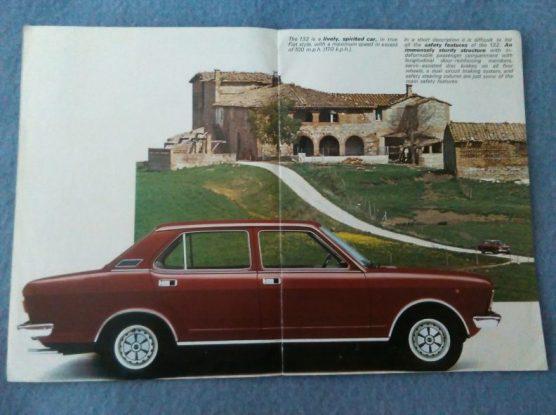1972 Fiat 132 brochure image