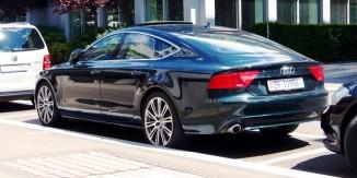 Green Audi A7