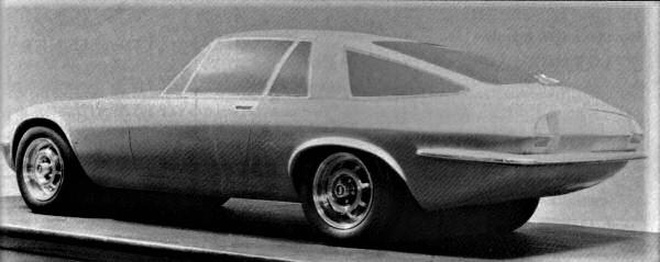 Jaguar XJ21 proposal - circa 1968. Image: AROnline