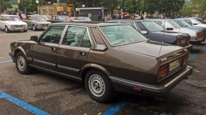 "Bertone restyled the Alfa 6 in 1983: this is one of those ""Series Two"" cars (picture from the Author)"