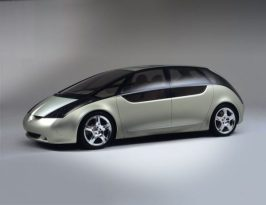 Mitsubishi Space Liner; getting better designwise. Still wacky. (c) oldconceptcars.com.