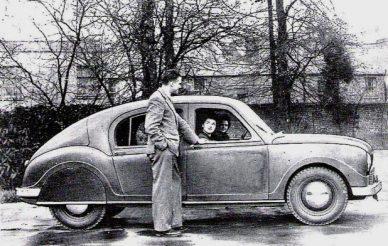 Fedden prototype car 1945/6. (c) Science Museum