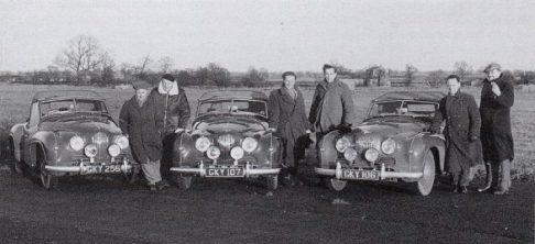 The 1951 Monte Carlo teams: Ellison / Robinson, Wilkins / Baxter, Grimley / Wise Image: JCL Publicity