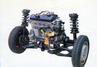 Peugeot 204 drivetrain. Image: Curbside Classic