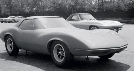 The Banshee styling prototype next to its nemesis. Classic Cars