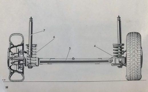 Rear Suspension. Alfa Romeo